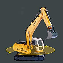 2a86d8f9 9030 496b 9388 bd5379c8a66a.  CR0,0,300,300 PT0 SX220 V1    - DOUBLE E Remote Control Truck RC Excavator Toy 17 Channel 3 in 1 Claw Drill Metal Shovel Real Hydraulic Electric RC Construction Vehicle with Working Lights (Yellow)