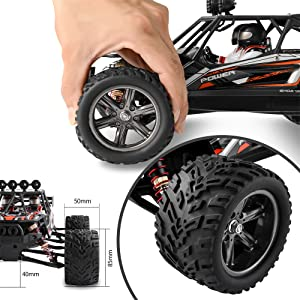 2f99bf91 57cf 423d ab38 585032731c03.  CR0,0,1000,1000 PT0 SX300 V1    - BEZGAR 8 Hobbyist Grade 1:12 Scale Remote Control Truck, 2WD High Speed 38 Km/h All Terrains Electric Toy Off Road RC Monster Vehicle Car Crawler with 2 Rechargeable Batteries