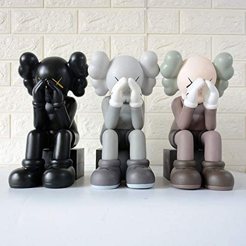 """41+CB+LDKeL. AC  - KAWS Model Art Toys Action Figure 12"""" 30cm Artwork Famous Cartoon Character Original Companion Model Toy Easter/Christmas for Home Decoration, Gift , Party(Gray)"""