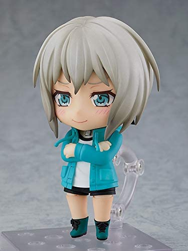 41EdhMOYtIL. AC  - Good Smile Bang Dream! Girls Band Party: Moca Aoba (Stage Outfit Version) Nendoroid Action Figure, Multicolor