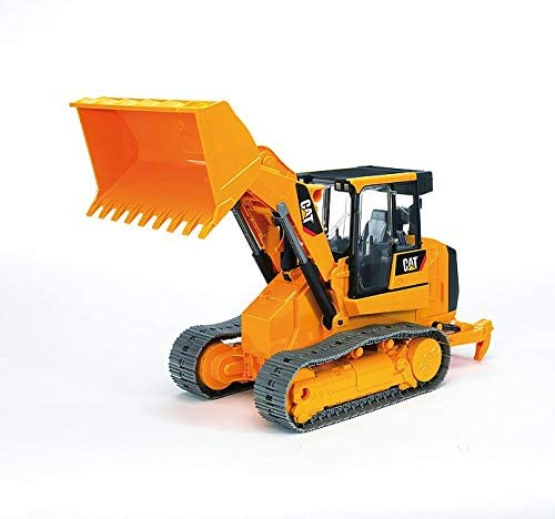 41GGuf+OYrL. AC  - Bruder Toys - Construction Realistic CAT Track Loader with Openable Cabin Doors and Adjustable/Detachable Loading Arm - Ages 4+