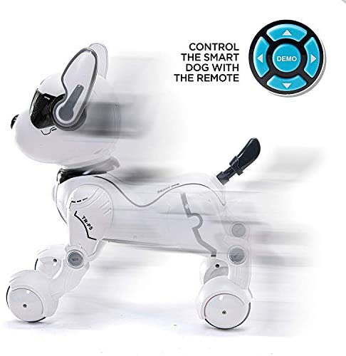 41NKwskjzQL. AC  - Top Race Remote Control Robot Dog Toy for Kids, Interactive & Smart Dancing to Beat Puppy Robot, Act Like Real Dogs, Gift Toy for Girls & Boys Ages 2,3,4,5,6,7,8,9,10 Years