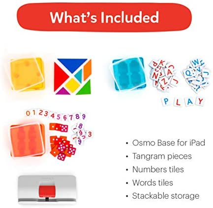 41QFDsiYVSL. AC  - Osmo - Genius Starter Kit for iPad - 5 Educational Learning Games - Ages 6-10 - Math, Spelling, Creativity & More - STEM Toy (Osmo iPad Base Included)