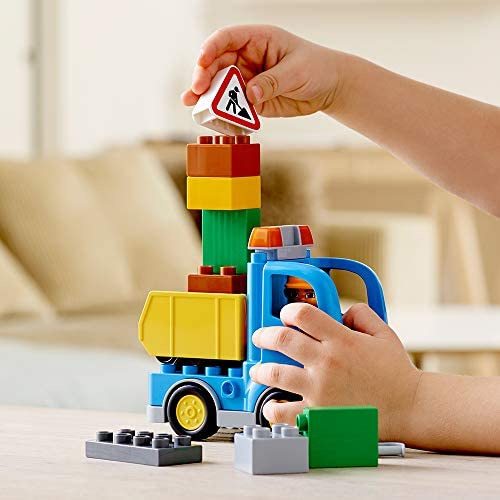 41RpG1xQVtL. AC  - LEGO DUPLO Town Truck & Tracked Excavator 10812 Dump Truck and Excavator Kids Construction Toy with DUPLO Construction Worker Figures (26 Pieces)