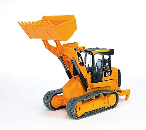 41Zi5eXcN5L. AC  - Bruder Toys - Construction Realistic CAT Track Loader with Openable Cabin Doors and Adjustable/Detachable Loading Arm - Ages 4+