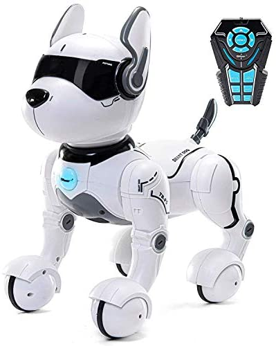 41eF6MGH3uL. AC  - Top Race Remote Control Robot Dog Toy for Kids, Interactive & Smart Dancing to Beat Puppy Robot, Act Like Real Dogs, Gift Toy for Girls & Boys Ages 2,3,4,5,6,7,8,9,10 Years