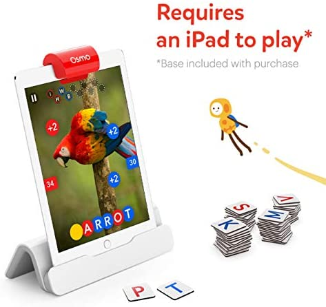41lTLyymhCL. AC  - Osmo - Genius Starter Kit for iPad - 5 Educational Learning Games - Ages 6-10 - Math, Spelling, Creativity & More - STEM Toy (Osmo iPad Base Included)