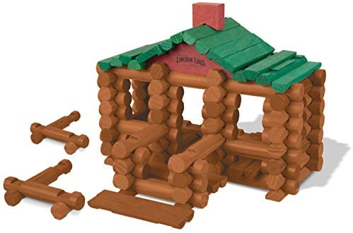 41lsGPnlb9L. AC  - LINCOLN LOGS –100th Anniversary Tin-111 Pieces-Real Wood Logs-Ages 3+ - Best Retro Building Gift Set for Boys/Girls - Creative Construction Engineering – Top Blocks Game Kit - Preschool Education Toy