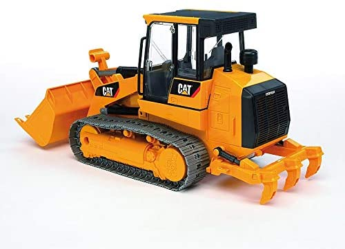 41qUuyd1UVL. AC  - Bruder Toys - Construction Realistic CAT Track Loader with Openable Cabin Doors and Adjustable/Detachable Loading Arm - Ages 4+