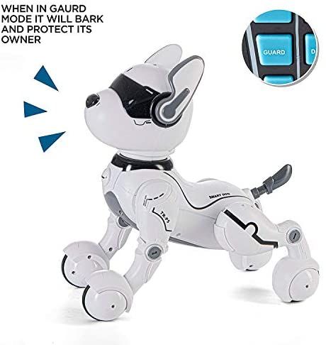 41zRA y8tdL. AC  - Top Race Remote Control Robot Dog Toy for Kids, Interactive & Smart Dancing to Beat Puppy Robot, Act Like Real Dogs, Gift Toy for Girls & Boys Ages 2,3,4,5,6,7,8,9,10 Years