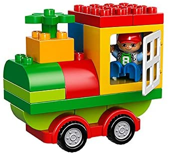 41zyUV7juiL. AC  - LEGO DUPLO All-in-One-Box-of-Fun Building Kit 10572 Open Ended Toy for Imaginative Play with Large Bricks Made for Toddlers and preschoolers (65 Pieces)