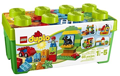 51 wYCxTs4L. AC  - LEGO DUPLO All-in-One-Box-of-Fun Building Kit 10572 Open Ended Toy for Imaginative Play with Large Bricks Made for Toddlers and preschoolers (65 Pieces)