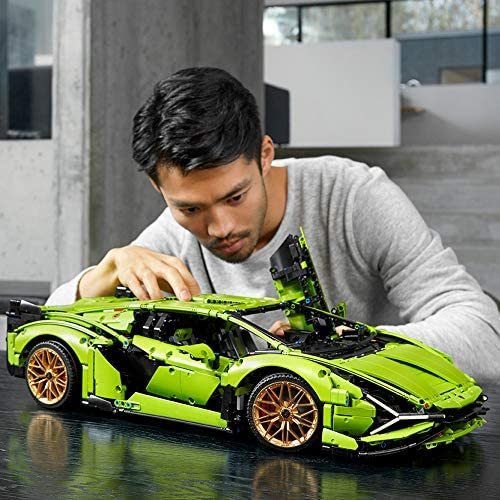 515HaIQz7JL. AC  - LEGO Technic Lamborghini Sián FKP 37 (42115), Model Car Building Kit for Adults, Build and Display This Distinctive Model, a True Representation of The Original Sports Car, New 2020 (3,696 Pieces)