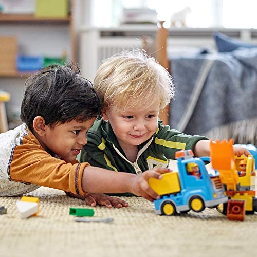 515bl75IIaL. AC  - LEGO DUPLO Town Truck & Tracked Excavator 10812 Dump Truck and Excavator Kids Construction Toy with DUPLO Construction Worker Figures (26 Pieces)