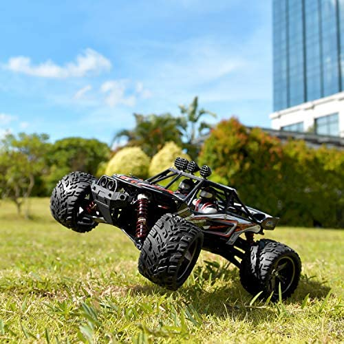 516EyGDlaFL. AC  - BEZGAR 8 Hobbyist Grade 1:12 Scale Remote Control Truck, 2WD High Speed 38 Km/h All Terrains Electric Toy Off Road RC Monster Vehicle Car Crawler with 2 Rechargeable Batteries