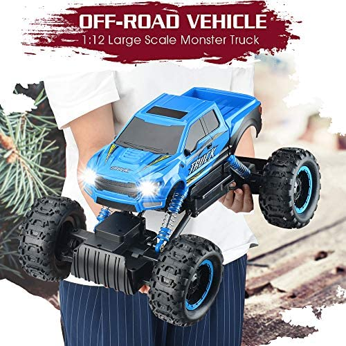 517PNEJhXAL. AC  - RC Car 2021 Newest 1/12 Scale Remote Control Car, 2.4Ghz Off Road RC Trucks with Rechargeable Battery Dual Motors Off Road RC Truck Play Electric Toy Car High Speed Racing Car for All Adults & Kids
