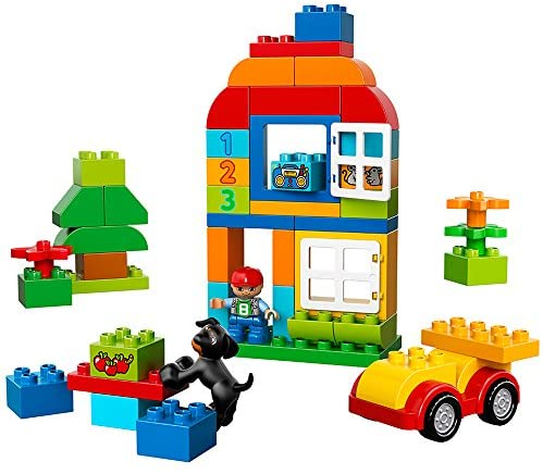 51B r2TH8oL. AC  - LEGO DUPLO All-in-One-Box-of-Fun Building Kit 10572 Open Ended Toy for Imaginative Play with Large Bricks Made for Toddlers and preschoolers (65 Pieces)