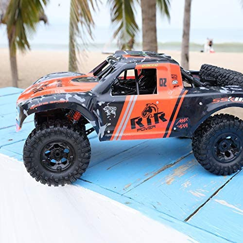 51B8M vt8TL. AC  - Bwine C11 1:10 Scale RC Car, Amphibious Remote Control Car for Boys Age 8-12, 4WD Waterproof Monster Truck, Rock Crawler Vehicle for Kids and Adults, 2 Batteries for 40+ Min Play