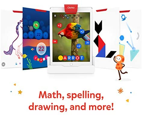 51GRHQX3V6L. AC  - Osmo - Genius Starter Kit for iPad - 5 Educational Learning Games - Ages 6-10 - Math, Spelling, Creativity & More - STEM Toy (Osmo iPad Base Included)
