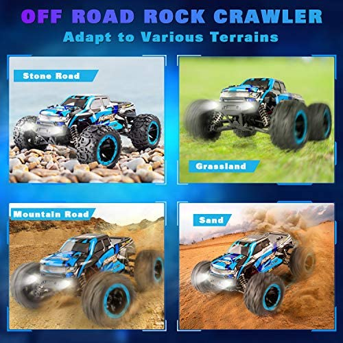 51Oxn1cE7vL. AC  - PHYWESS RC Cars Remote Control Car for Boys 2.4 GHZ High Speed Racing Car, 1:16 RC Trucks 4x4 Offroad with Headlights, Electric Rock Crawler Toy Car Gift for Kids Adults Girls