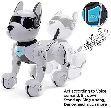 51QEJXFnO1L. AC  - Top Race Remote Control Robot Dog Toy for Kids, Interactive & Smart Dancing to Beat Puppy Robot, Act Like Real Dogs, Gift Toy for Girls & Boys Ages 2,3,4,5,6,7,8,9,10 Years