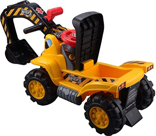 51UdQp0gigL. AC  - Play22 Toy Tractors for Kids Ride On Excavator - Music Sounds Digger Scooter Tractor Toys Bulldozer Includes Helmet with Rocks - Ride on Tractor Pretend Play - Toddler Tractor Construction Truck