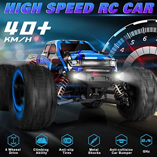 51VM4p9k2nL. AC  - PHYWESS RC Cars Remote Control Car for Boys 2.4 GHZ High Speed Racing Car, 1:16 RC Trucks 4x4 Offroad with Headlights, Electric Rock Crawler Toy Car Gift for Kids Adults Girls