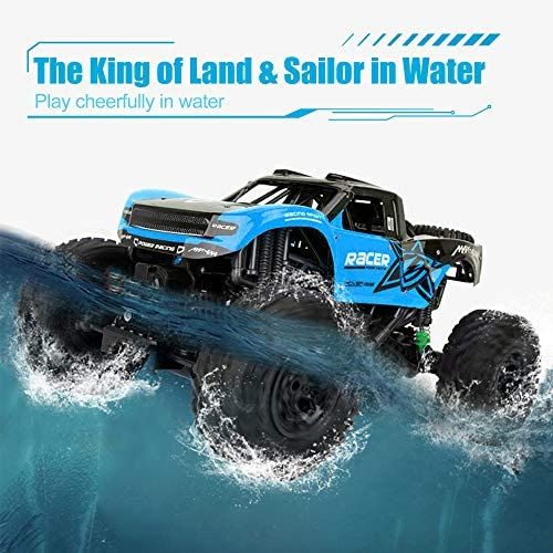 51WNpMUNozL. AC  - WQ Amphibious RC Car Toy Remote Control Car Boat, Super Load-Bearing 4WD Off Road Racing Car, 1:12 Scale RC Truck - All Terrain Waterproof Toys Trucks for Kids and Adult