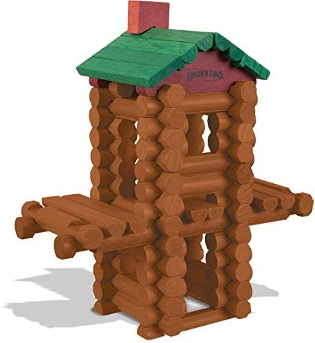51XMBKMh+bL. AC  - LINCOLN LOGS –100th Anniversary Tin-111 Pieces-Real Wood Logs-Ages 3+ - Best Retro Building Gift Set for Boys/Girls - Creative Construction Engineering – Top Blocks Game Kit - Preschool Education Toy