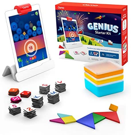 51cIfZXnXeL. AC  - Osmo - Genius Starter Kit for iPad - 5 Educational Learning Games - Ages 6-10 - Math, Spelling, Creativity & More - STEM Toy (Osmo iPad Base Included)