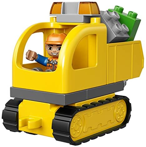 51cR4vsQgFL. AC  - LEGO DUPLO Town Truck & Tracked Excavator 10812 Dump Truck and Excavator Kids Construction Toy with DUPLO Construction Worker Figures (26 Pieces)