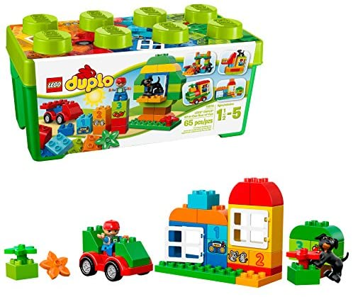 51eKqN2LUtL. AC  - LEGO DUPLO All-in-One-Box-of-Fun Building Kit 10572 Open Ended Toy for Imaginative Play with Large Bricks Made for Toddlers and preschoolers (65 Pieces)