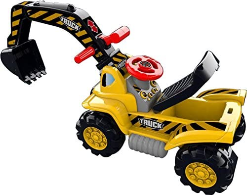 51fZzx8EbIL. AC  - Play22 Toy Tractors for Kids Ride On Excavator - Music Sounds Digger Scooter Tractor Toys Bulldozer Includes Helmet with Rocks - Ride on Tractor Pretend Play - Toddler Tractor Construction Truck