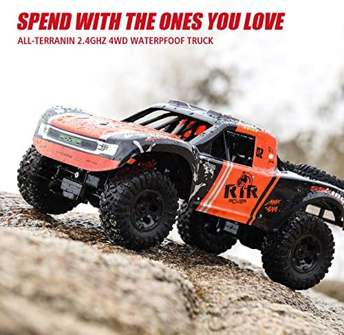 51m0xVm 5VL. AC  - Bwine C11 1:10 Scale RC Car, Amphibious Remote Control Car for Boys Age 8-12, 4WD Waterproof Monster Truck, Rock Crawler Vehicle for Kids and Adults, 2 Batteries for 40+ Min Play