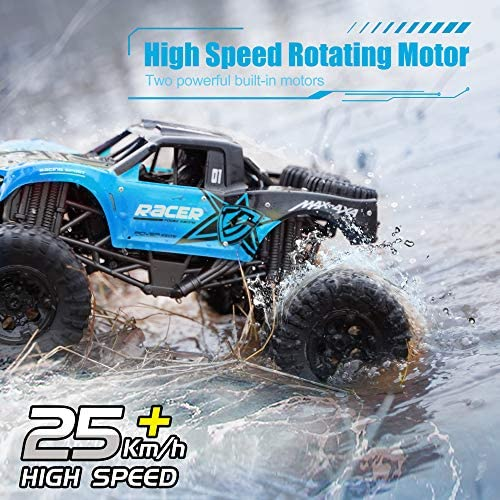 51nBjPuCm L. AC  - WQ Amphibious RC Car Toy Remote Control Car Boat, Super Load-Bearing 4WD Off Road Racing Car, 1:12 Scale RC Truck - All Terrain Waterproof Toys Trucks for Kids and Adult