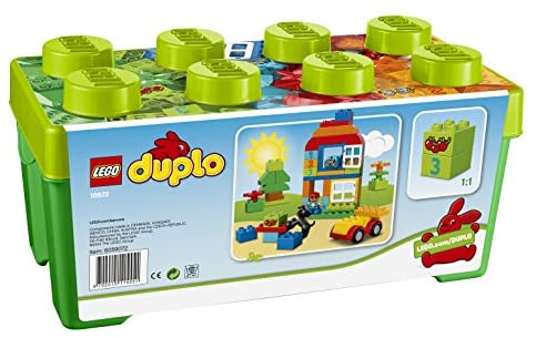 51p9l4LSBWL. AC  - LEGO DUPLO All-in-One-Box-of-Fun Building Kit 10572 Open Ended Toy for Imaginative Play with Large Bricks Made for Toddlers and preschoolers (65 Pieces)