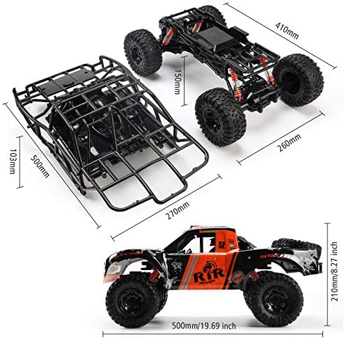51xSe0s91OL. AC  - Bwine C11 1:10 Scale RC Car, Amphibious Remote Control Car for Boys Age 8-12, 4WD Waterproof Monster Truck, Rock Crawler Vehicle for Kids and Adults, 2 Batteries for 40+ Min Play