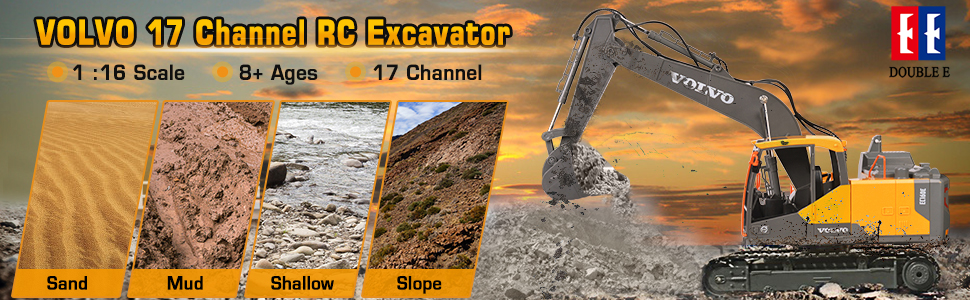 5bcfb4ed d793 4482 af34 4b74415ce4b9.  CR0,0,970,300 PT0 SX970 V1    - VOLVO RC Excavator Metal Shovel Remote Control Excavator 17 Channel 1/16 Scale with 2 Batteries Rc Toy Construction Truck 2.4Ghz Tractor Vehicles Toy with Lights and Sounds for Kids