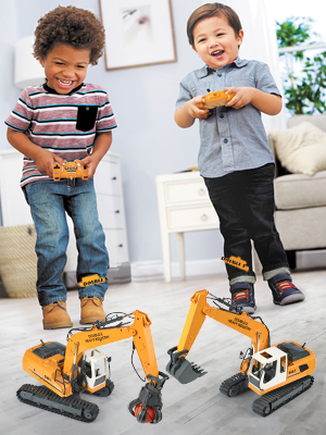 5c9c1802 32cd 4dc7 bf3e a16c77037dec.  CR0,0,300,400 PT0 SX300 V1    - DOUBLE E Remote Control Truck RC Excavator Toy 17 Channel 3 in 1 Claw Drill Metal Shovel Real Hydraulic Electric RC Construction Vehicle with Working Lights (Yellow)