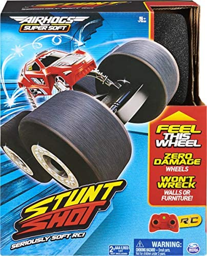 611GppqwCWL. AC  - Air Hogs Super Soft, Stunt Shot Indoor Remote Control Stunt Vehicle with Soft Wheels, for Kids Aged 5 and up