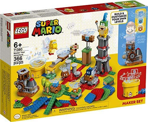 61ENY0V+eBL. AC  - LEGO Super Mario Master Your Adventure Maker Set 71380 Building Kit; Collectible Gift Toy Playset for Creative Kids, New 2021 (366 Pieces)