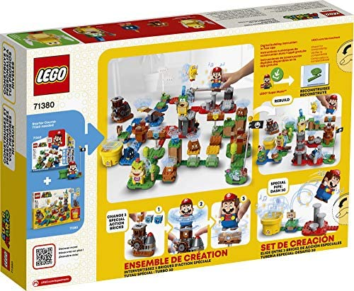 61Qh+gqMnXL. AC  - LEGO Super Mario Master Your Adventure Maker Set 71380 Building Kit; Collectible Gift Toy Playset for Creative Kids, New 2021 (366 Pieces)