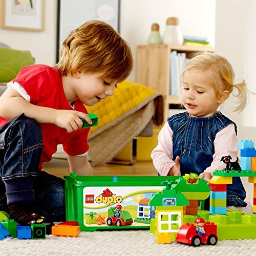 61WplK4SADL. AC  - LEGO DUPLO All-in-One-Box-of-Fun Building Kit 10572 Open Ended Toy for Imaginative Play with Large Bricks Made for Toddlers and preschoolers (65 Pieces)