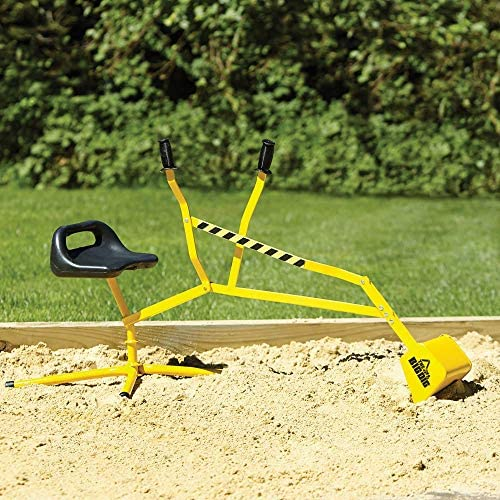 61wzoUj7+tL. AC  - The Big Dig Sandbox Digger Excavator Crane with 360° Rotation with Base, Great for Sand, Dirt and Snow, Steel Outdoor Play Toy