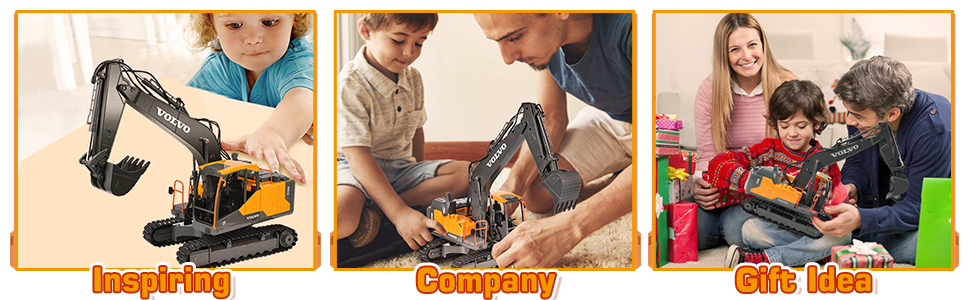74cd73d5 4894 4ade 98ab a6eb97d1f09a.  CR0,0,970,300 PT0 SX970 V1    - VOLVO RC Excavator Metal Shovel Remote Control Excavator 17 Channel 1/16 Scale with 2 Batteries Rc Toy Construction Truck 2.4Ghz Tractor Vehicles Toy with Lights and Sounds for Kids