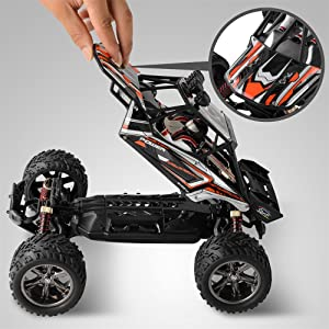 cef63908 6b64 433d 8d83 2beb698c1825.  CR0,0,1000,1000 PT0 SX300 V1    - BEZGAR 8 Hobbyist Grade 1:12 Scale Remote Control Truck, 2WD High Speed 38 Km/h All Terrains Electric Toy Off Road RC Monster Vehicle Car Crawler with 2 Rechargeable Batteries
