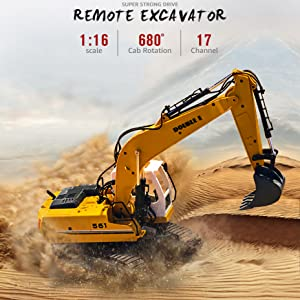 dbf59fb2 5e0b 4820 a6b4 80b1184cacbb.  CR0,36,929,929 PT0 SX300 V1    - DOUBLE E Remote Control Truck RC Excavator Toy 17 Channel 3 in 1 Claw Drill Metal Shovel Real Hydraulic Electric RC Construction Vehicle with Working Lights (Yellow)