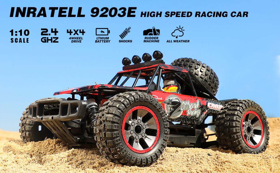 036e58bd d763 4ebf bb45 74d8c06ee3de.  CR0,0,970,600 PT0 SX970 V1    - RC Cars, 1/10 Scale Large High-Speed Remote Control Car for Adults Kids, 48+ kmh 4WD 2.4GHz Off-Road Monster RC Truck, All Terrain Electric Vehicle Toys Boys Gift with 2 Batteries for 40+ Min Play