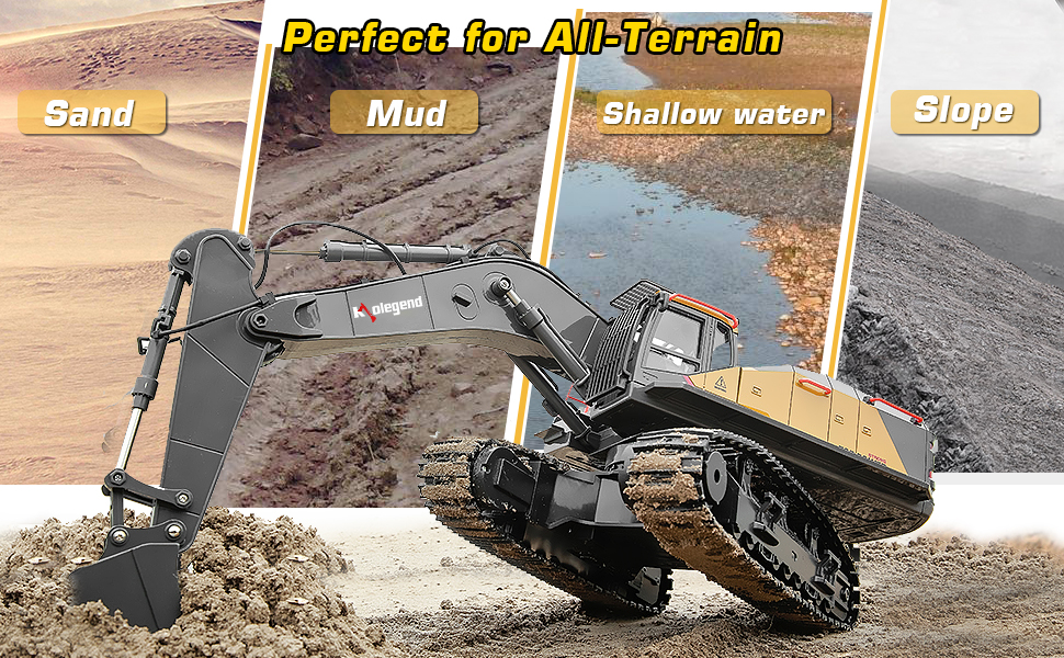 10fda560 2d9d 4ed9 8a8c 1a8a6766d923.  CR0,0,970,600 PT0 SX970 V1    - kolegend Remote Control Excavator Toy 1/14 Scale RC Excavator, 22 Channel Upgrade Full Functional Construction Vehicles Rechargeable RC Truck with Metal Shovel and Lights Sounds
