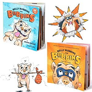 1e319363 be24 4619 bd28 7f50de61b3a0.  CR0,0,960,960 PT0 SX300 V1    - Belly Rubbins for Bubbins Storybook & Plush Toy Set - 2 Children's Picture Books, Coloring Book with Crayons, Pit Bull Plushie, Storage Bag - Stories About Rescue Dog Adoption - Gifts for Kids Ages 3+